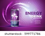 energy drink on sparkly and... | Shutterstock .eps vector #599771786