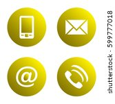 vector icon set  yellow... | Shutterstock .eps vector #599777018