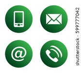 vector icon set  green... | Shutterstock .eps vector #599777042