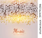 abstract background with music... | Shutterstock .eps vector #599791286
