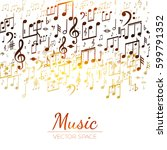 abstract background with music... | Shutterstock .eps vector #599791352