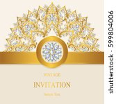 invitation card templates with... | Shutterstock .eps vector #599804006