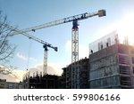 crane at a construction site | Shutterstock . vector #599806166