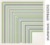 big set of decorative seamless... | Shutterstock .eps vector #599810252