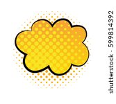 cloud bubble comic style vector ... | Shutterstock .eps vector #599814392