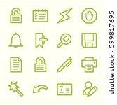 organizer web icons set   Shutterstock .eps vector #599817695