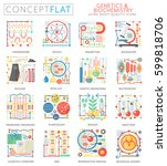 infographics mini concept... | Shutterstock .eps vector #599818706