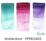 set of gradients. watercolor... | Shutterstock .eps vector #599821832