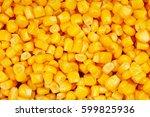 corn texture. yellow corns as... | Shutterstock . vector #599825936