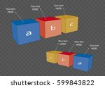 vector cube template for... | Shutterstock .eps vector #599843822