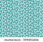 hexagonal cell vector modern... | Shutterstock .eps vector #599852606