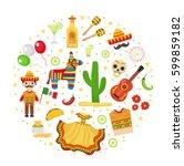 cinco de mayo celebration in...   Shutterstock .eps vector #599859182