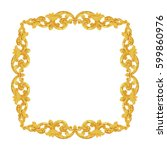 ornament elements frame ... | Shutterstock . vector #599860976