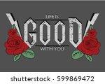rock vector print | Shutterstock .eps vector #599869472