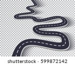 winding road isolated... | Shutterstock .eps vector #599872142