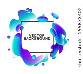 vector design template and... | Shutterstock .eps vector #599873402