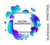 vector design template and... | Shutterstock .eps vector #599873402