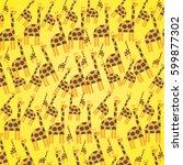 giraffe background | Shutterstock .eps vector #599877302