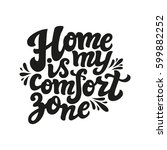 hand drawn typography text.... | Shutterstock . vector #599882252