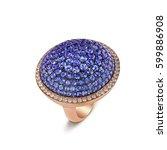 18 karat rose gold luxury ring... | Shutterstock . vector #599886908