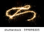 a glowing red hot sparkler...   Shutterstock . vector #599898305