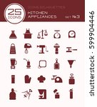 icons silhouettes kitchen... | Shutterstock .eps vector #599904446