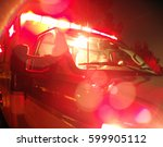 Small photo of Ambulance with Lights on