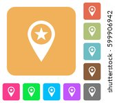 poi gps map location flat icons ... | Shutterstock .eps vector #599906942