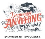 this is the beginning of... | Shutterstock .eps vector #599908556