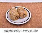 sarma  cabbage stuffed with... | Shutterstock . vector #599911082