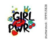 feminism slogan with hand drawn ...   Shutterstock .eps vector #599915828