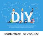diy concept vector illustration ... | Shutterstock .eps vector #599923622