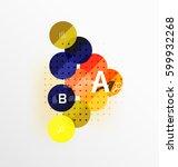 circle modern geometry... | Shutterstock .eps vector #599932268