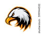 furious eagle head mono sport... | Shutterstock .eps vector #599944532