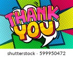 thank you word bubble. message... | Shutterstock .eps vector #599950472