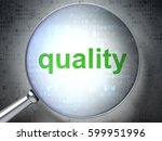marketing concept  magnifying... | Shutterstock . vector #599951996