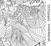 tracery seamless calming...   Shutterstock .eps vector #599953112