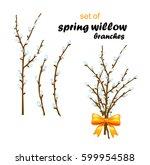 vector illustration of spring... | Shutterstock .eps vector #599954588