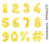 Golden Numbers Set  Hashtag ...
