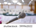 close up of microphone in... | Shutterstock . vector #599962022