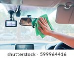 hand cleaning the car interior... | Shutterstock . vector #599964416
