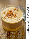 sea salted caramel and belgian... | Shutterstock . vector #599964842