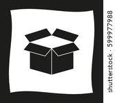 box   black  vector icon   Shutterstock .eps vector #599977988
