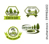 earth day icons for green... | Shutterstock .eps vector #599982602
