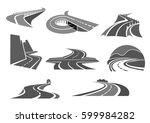 highways and motorway roads... | Shutterstock .eps vector #599984282