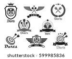 darts club or contest vector... | Shutterstock .eps vector #599985836