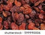 raisins as background grape...   Shutterstock . vector #599990006