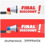 final discount megaphone banners | Shutterstock .eps vector #599996456