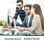 professional business team is... | Shutterstock . vector #600025628