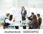 business team gives a... | Shutterstock . vector #600026942